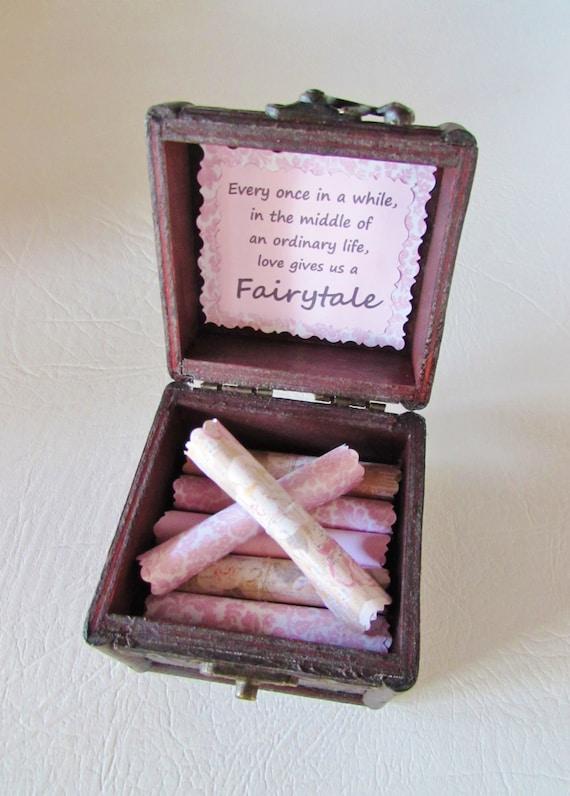 Disney Gift, Disney Love Scroll Box, Romantic Disney Movie Love Quotes in Wood Chest, Romantic Anniversary, Birthday Gift, Disney