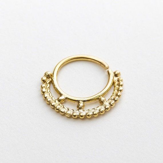 septum ring 16g gold septum ring septum jewelry nose by