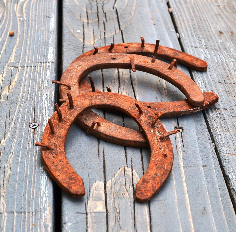 3 Vintage Horseshoes Antique Horse Shoes Instant Collection