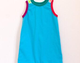 last one ! summery sleeveless romper | sky blue