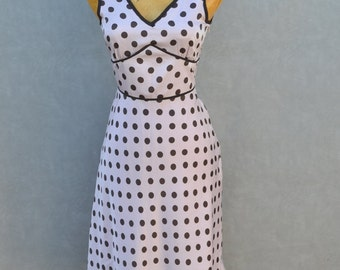 Pink and Brown Polka Dot Dres
