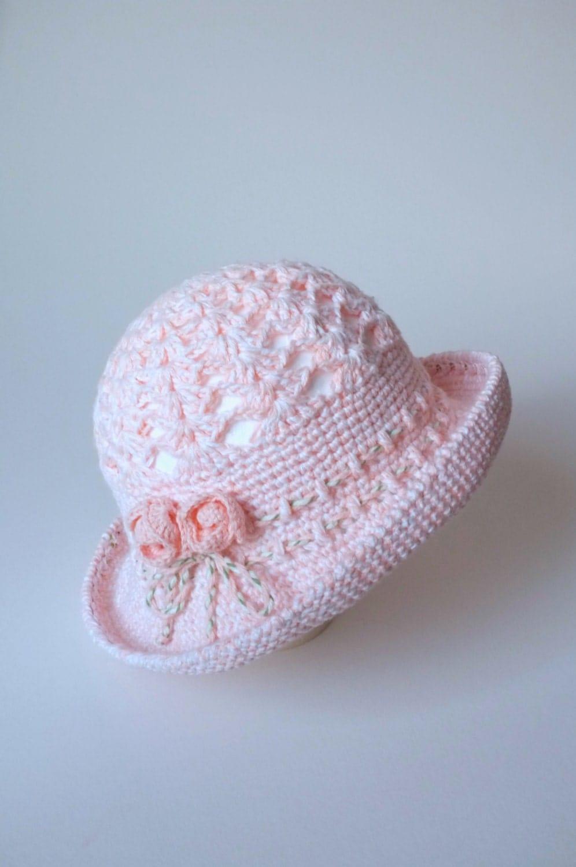 Free Knitting Pattern For Baby Sun Hat : Crochet Baby ragazze sole cappello bambino cappello estivo