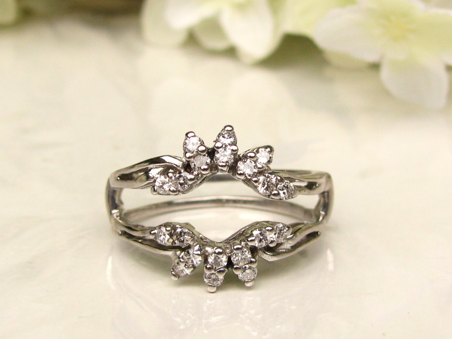 vintage diamond enhancer diamond wedding ring floral. Black Bedroom Furniture Sets. Home Design Ideas