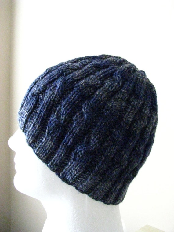 Knitting Patterns For Hats Using Sock Yarn : Mens Knit Hat Sock Yarn Hat Knitting pattern