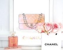 Chanel Bag Print. Chanel Print. Paris Print. Watercolor fashion artwork. Fashion Illustration. Modern Home Décor.