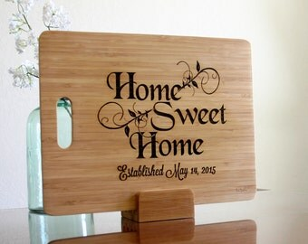 Personalized Cutting Board New Home Housewarming Gift Chopping Block Custom Cutting Board New Home Gift Engraved Custom Realtor Closing Gift
