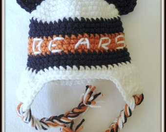 Chicago Football Bears Crochet Hat Baby Shower Baby Shower Decor Baby Shower Gifts Baby Photo Prop