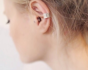 Adjustable Ear Cuff | Hammered Ear Cuff | Sterling Silver Ear Cuff | Eco friendly Jewellery | Ear Accessory | Conch Cuff | Unusual Ear Cuff