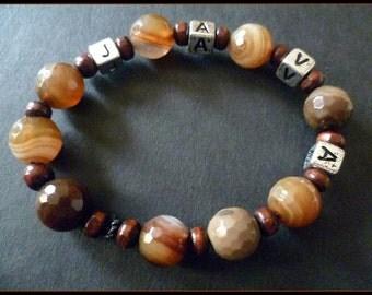 java java java java   (brown agate stretchy bracelet)