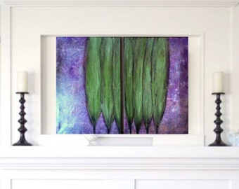 AUGUST POPLARS: Large 2 Panel Abstract Painting