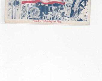 Industry Upholding The Flag Patriotic Postcard 48 star Flag