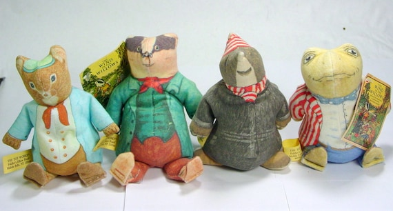 Wind In The Willows Stuffed Animals Mole Ratty The Mouse Mr