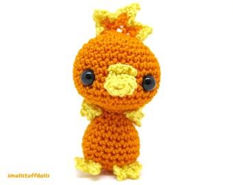 Torchic Amigurumi PRE-ORDER x Mini crochet pokemon doll prop