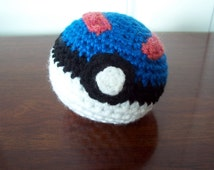 Amigurumi Pokemon Ball : Pokemon Great Ball Amigurumi Soft Pokeball Plush
