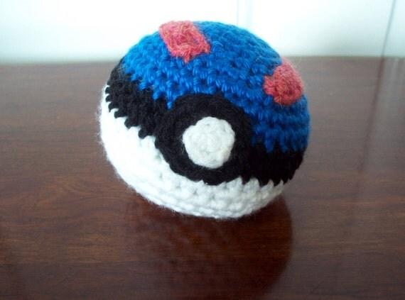 Pokemon Great Ball Amigurumi Soft Pokeball Plush by CroChels