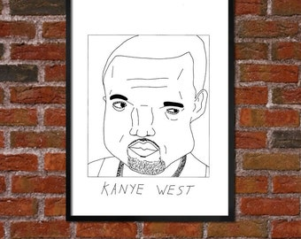 Badly Drawn Kanye West - Hip Hop Poster
