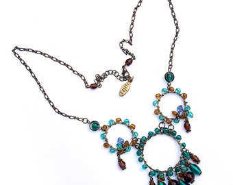 Vintage Authentic 70's Hippie Boho Necklace, Signed, Free Shipping