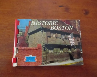 Small Pictorial Spiral Book Historic Pictures Boston Old Corner Bookstore BunkerHill Freedom Trail Old North Church Paul Revere State House