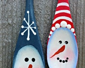 SPOON SNOWMEN ORNAMENTS (Set of 2)