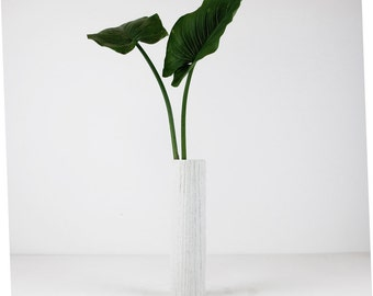 German Porcelain Thomas Vase. Tall Thin Matte Porcelain Vase. 70s.