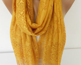 Mustard Scarf Tulle Scarf Shawl Cowl Scarf Spring Summer Fall Fashion Scarf Women Fashion Accessories Holiday Christmas Gift For Her For Mom