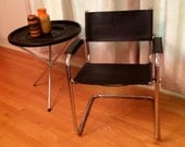 Matteo Grassi Chair /  Italian Chrome & Leather / Great Price!
