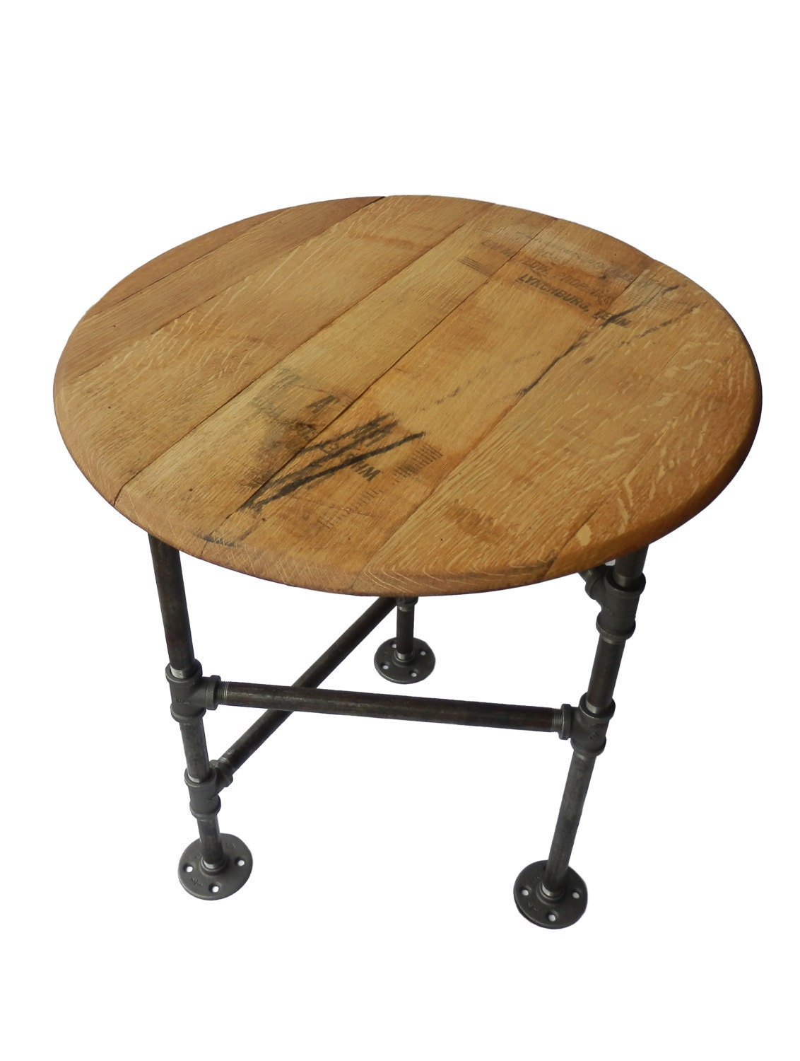 End Table Pipe Industrial Side Table Reclaimed By
