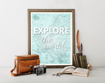 Travel Quote, Travel Decor,Travel Art,Travel Digital Download, Travel Typography,Travel Print,Travel Poster,Travel 0231