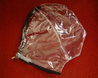PVC Lockable Gimp Hood/Mask BDSM Bondage Hood **MATURE**