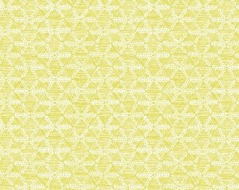 CLEARANCE Cloud9 Biology Structure Citron Organic Cotton Quilting Fabric