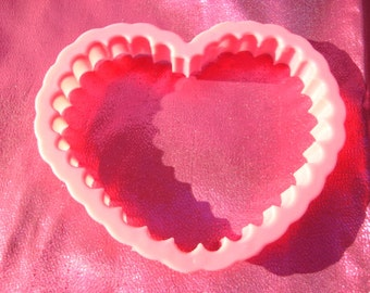 Plastic Cookie Cutter Pink Heart Cutter