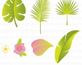 Leaf vector - Digital Clipart - Instant Download - EPS, Pdf and PNG files included