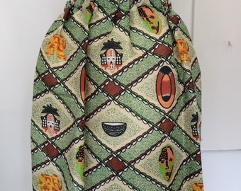 African print skirt uk size M