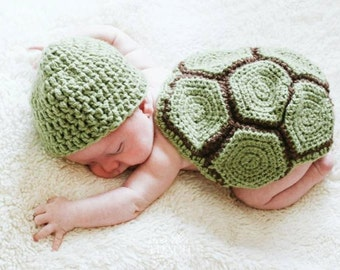 Turtle Beanie and Shell