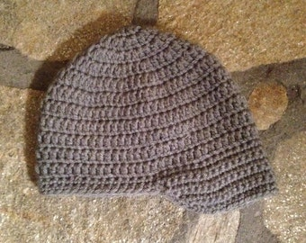 Crocheted Basic Brimmed Hat