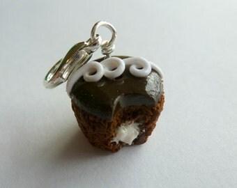 Miniature Food Jewelry, Charms, Cupcake, Chocolate Cupcake, Mini Cupcakes, Phone Charms