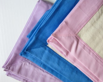 100% organic soft natural flannel baby blanket with sateen edge - pick your color!