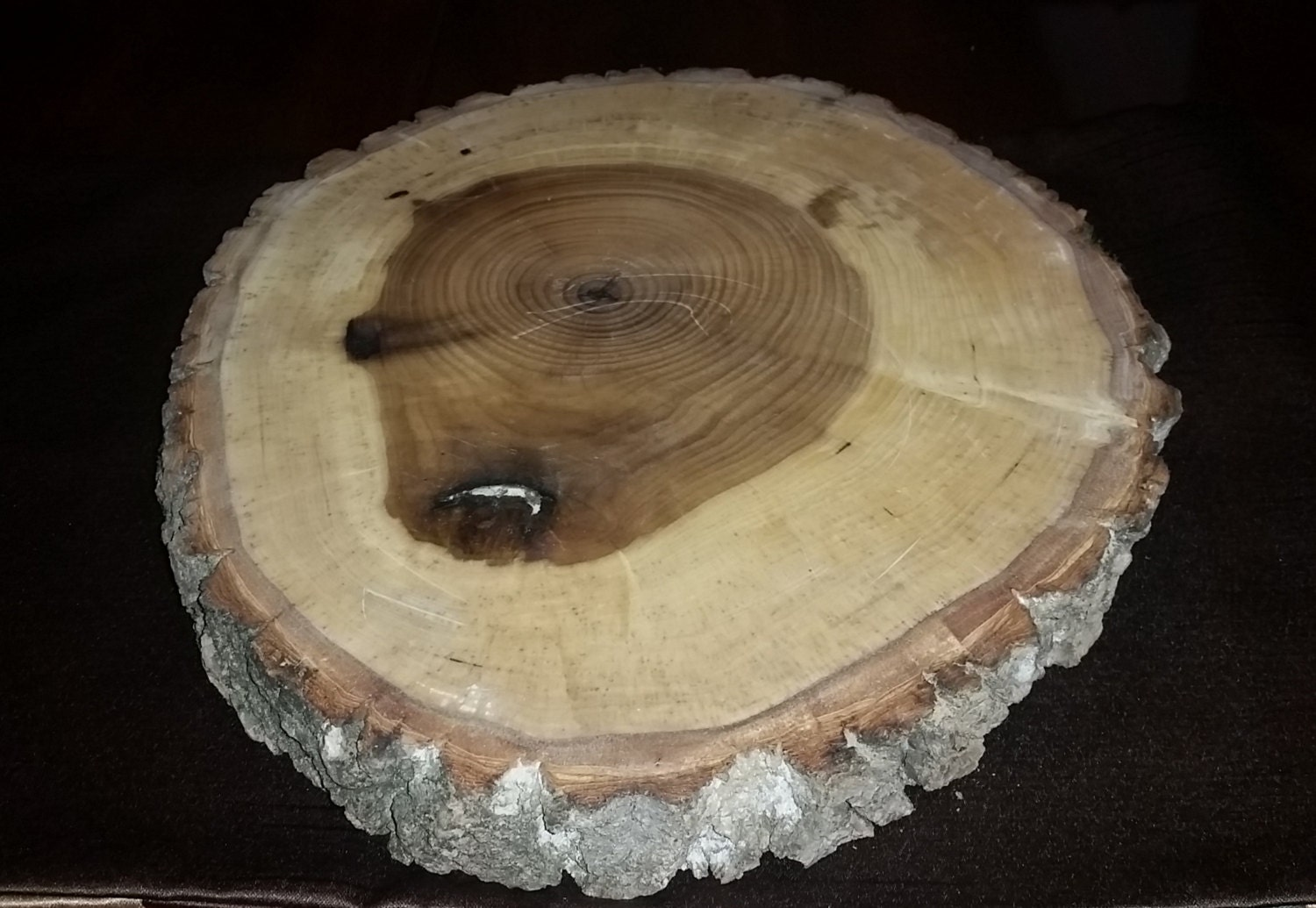 Log slice round rustic wood table centerpiece