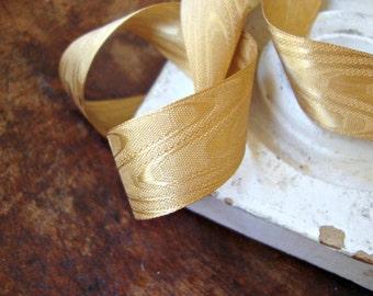Antique Gold Moire Ribbon