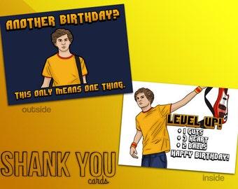 Scott Pilgrim Happy Birthday Card - Printable from Home!