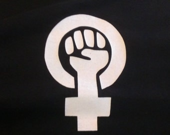 Feminist Symbol Screen Print T-shirt in Womens or Mens Sizes S-3XL