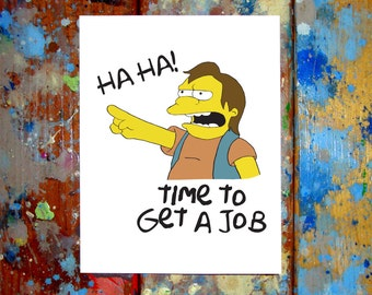 Nelson Muntz Congratulations Graduation Card HA HA The Simpsons