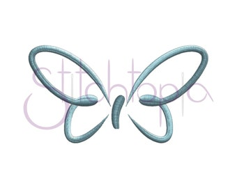 Butterfly Embroidery Design - 10 sizes - JEF HUS 10 Formats - Butterfly Digital Machine Embroidery Design Pattern - Instant Download Files