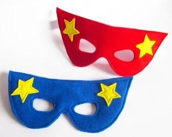 Masque de super héros - n'importe quelle couleur - feutre masque - Costume de super héros de fête - Déguisements masque - super héros - super héros Dress Up - Super héros