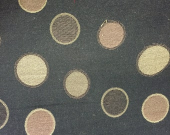 """Brown Circle Upholstery Fabric - Sold By The Yard - 59"""""""