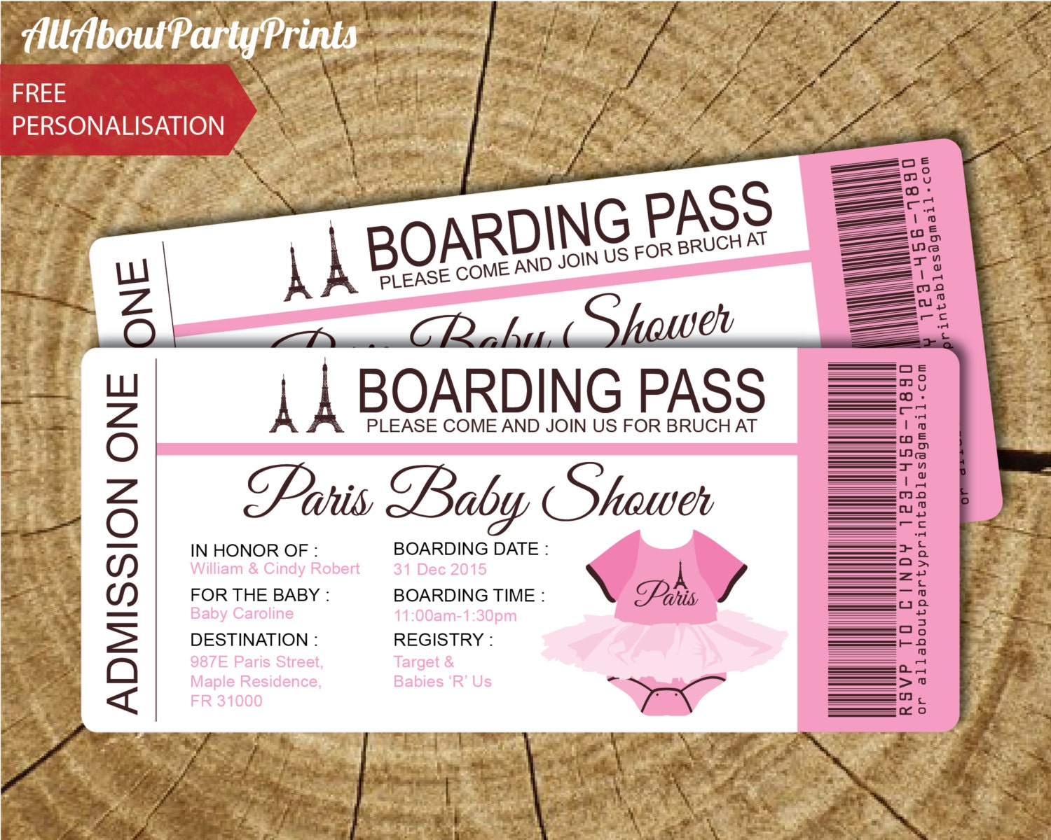 Paris Baby Shower Invitations – gangcraft.net