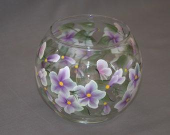 Hand-Painted Glass Globe Candleholder