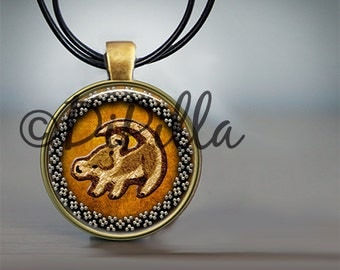 Lion King Simba Rafiki Choice of 4 Designs Colors with Leather Cord