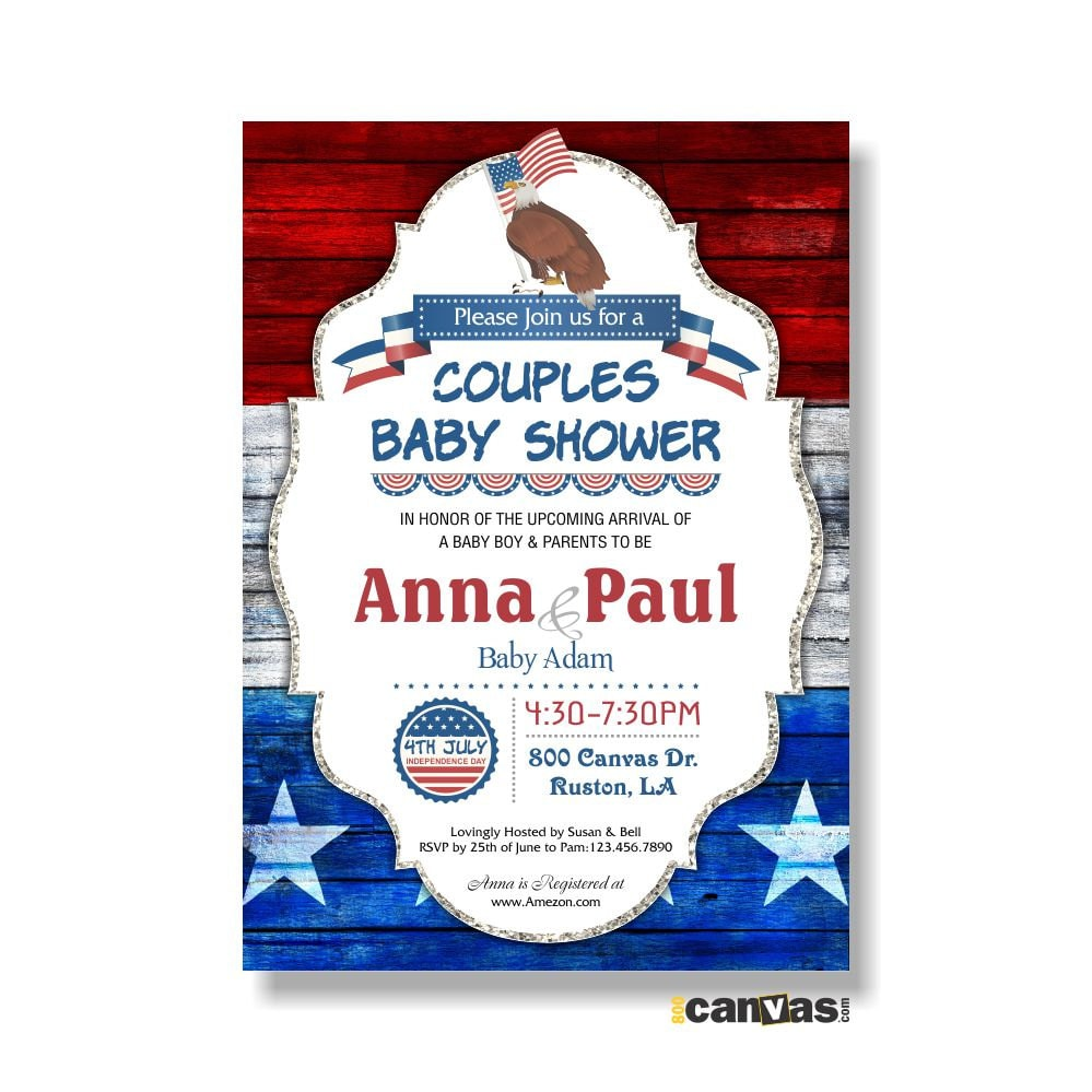 May The Fourth Be With You Baby Shower: 4th Of July Baby Shower Invitations Baby Boy BBQ Baby