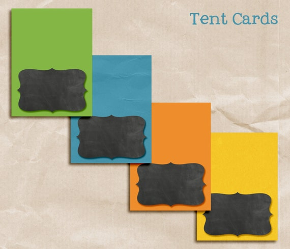 Science Party Kit Pack Birthday Package Printable TENT CARDS